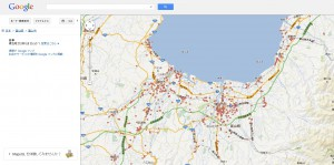 Googlemapで「富山県 整骨院」を検索